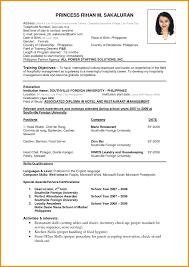 Making Resume Format Resume Resume Format For Housekeeping 19