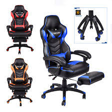 office bucket chair. ELECWISH Office Gaming Chair Racing Ergonomic Bucket Seat Computer Desk Footrest O