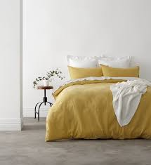 yellow queen bedding. Interesting Yellow In 2 Linen Vintage Washed Queen Bed Quilt Cover Set  Yellow With Bedding B