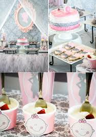 Pink & Grey Baby Shower full of cute ideas! Via Kara's Party Ideas  KarasPartyIdeas.