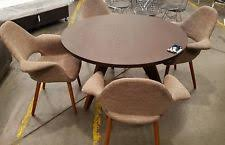 x display nick scali round diningtable and 4 arm dining chair in walnut orp 1999