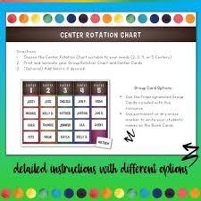 Center Rotation Chart Free
