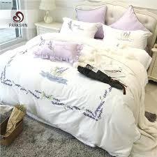 lavender sheet set french lavender bedding set satin embroidery duvet cover set cotton bed lavender sheet sets full
