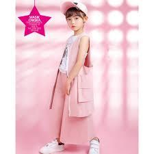 Bộ quần áo thời trang cá tính phong cách Hàn Quốc 2019 dành cho bé gái