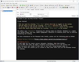 creating a new help builder project west wind html help builder here s what the edit view for a topic looks like the default content from the index topic shown
