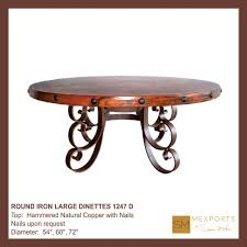 round copper top dining table gallery including iron large dinette