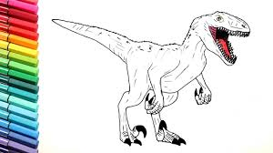 Small Picture Velociraptor Color Pages for Kids Drawing Dinosaurs from