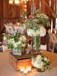 Simple And Elegant Wedding Centerpieces : Rustic Wedding Centerpiece Dining  Table Design With Round Brown Table