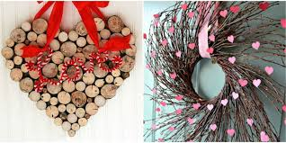 Small Picture 25 DIY Valentines Day Wreaths Homemade Door Decorations for