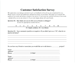 Customer Satisfaction Survey Template Excel Email Questionnaire Template