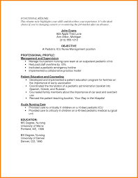 Icu Nurse Resume Objective Resume Nurse Resume Cv Cover Letter 5