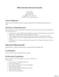 Example Of Resume For A Job Enchanting Chiropractic Job Description Chiropractic Assistant Sample Resume