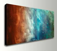 red wall art decor abstract painting large wall art canvas print panoramic home decor gift for