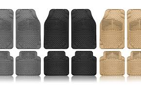 Up To 75 Off on Rubber Car Floor Mats 4 Piece Groupon Goods