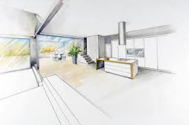 Interior design drawings perspective Kitchen University Of The Arts London Freehand Perspective Drawing For Designers Ual