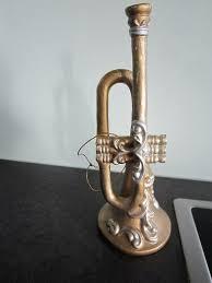 Trompete Christbaumschmuck Weihnachtsdeko Goldfabend 17cm