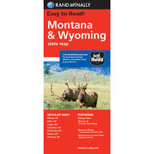 Interstate Mileage Chart Montana Wyoming Folding Travel Map Folding Travel Map