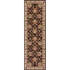 timeless abbasi brown beige 2 ft x 7 ft traditional french country runner rug