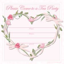Tea Party Invitations Free Template Free Printable Tea Party Invitations Tea Party Invitations