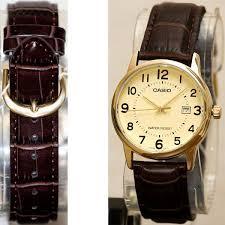 casio mtp v002gl 9b mens gold analog black leather band watch new casio mtp v002gl 9b mens gold analog black leather band watch new great watches