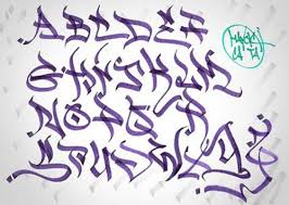 how to write the letter in graffiti alphabet1