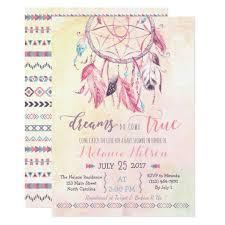 Dream Catcher Baby Shower Invitations