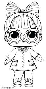 Doll Coloring Page Doll Coloring Page 3 Lol Doll Coloring Pages