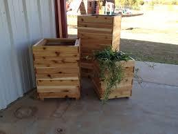 tall cedar planters