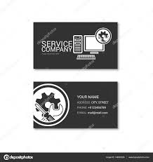 Simple Business Card Of Computer Repair Shop Stock Vector