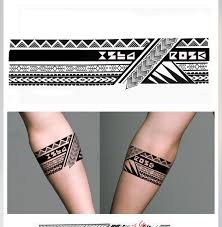 Tribal Geometric Armband Tattoo Designs Samoantattoos запястье