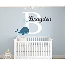 personalized whale name wall decal for boys nursery room decor nursery nautical wall decals on personalized wall decor for nursery with personalized nursery name decals let s personalize that