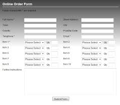 Order Forms Professional Order Form Template Scripts For Your Website