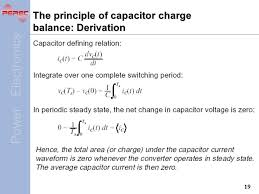 charging capacitor equation derivation power electronics chapter 5 dc to dc converters choppers