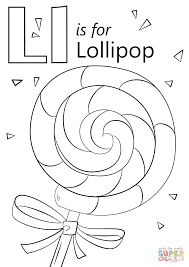 Letter L Is For Lollipop Coloring Page Free Printable Coloring Pages Free Print Coloring Pages For Kids L