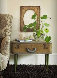 View in gallery Repurposed vintage suitcase as sidetable