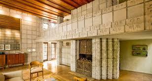 frank lloyd wright millard house concrete block interior