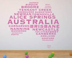 australian map city names decal