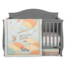 dr seuss oh the places you ll go uni 5 piece crib bedding set trend lab