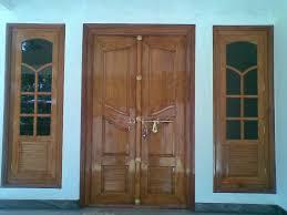Bavas Wood Works: Kerala Style Wooden Front Door Double