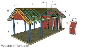 carport plans with storage. Carport With Storage Roof Plans And MyOutdoorPlans