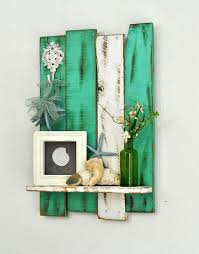 diy home decor ideas with pallets. shelf - reclaimed pallet decorative hook teal \u0026 white cottage chic home decor diy ideas with pallets