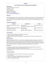 Resume Chemical Operator Resume