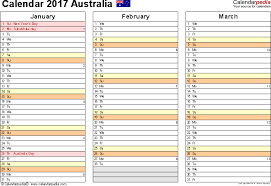 template 6 2017 calendar australia for pdf months horizontally 4 pages landscape