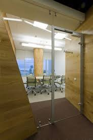 amazing office design with wooden domination and glass for interior and room separator amazing office design