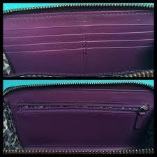 Coach Bags - COACH Poppy Patent Leather Purple Wristlet Wallet ...