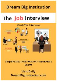 Job Interview Books Job Interview Book Pdf For All Exam Dream Big Institution