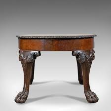 antique coffee table english victorian side table oak marquetry circa 1870
