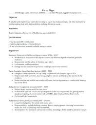 responsibilities of a nanny for resumes nanny resume nanny resume example featuring first aid and