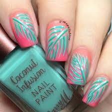 The Polish List: Barry M Plam Leaf Nail Art