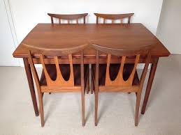mid century retro g plan extending draw leaf dining table and 4 brasilia chairs